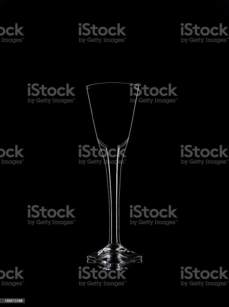 Liqueur glass stock photo