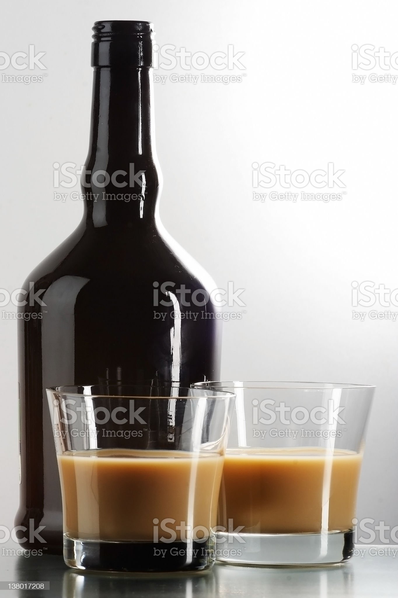 liqueur in glasses royalty-free stock photo