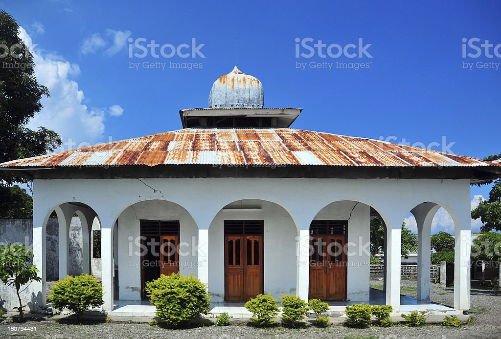 Liqui?? / Likis?, East Timor: whitewashed mosque royalty-free stock photo
