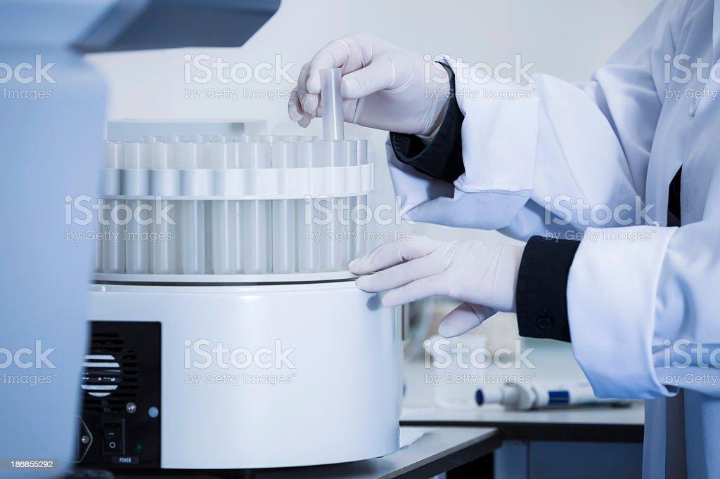 Liquid Analyze Machine royalty-free stock photo