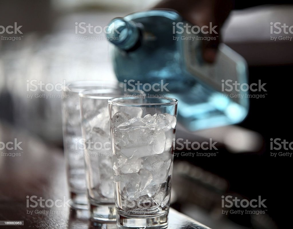 Liquid and ice cubes royalty-free stock photo