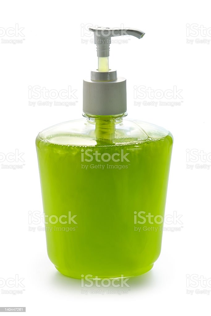 Liquid apple cream soap royalty-free stock photo