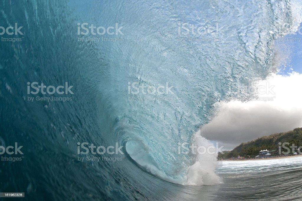 Liquid Blue Cave royalty-free stock photo