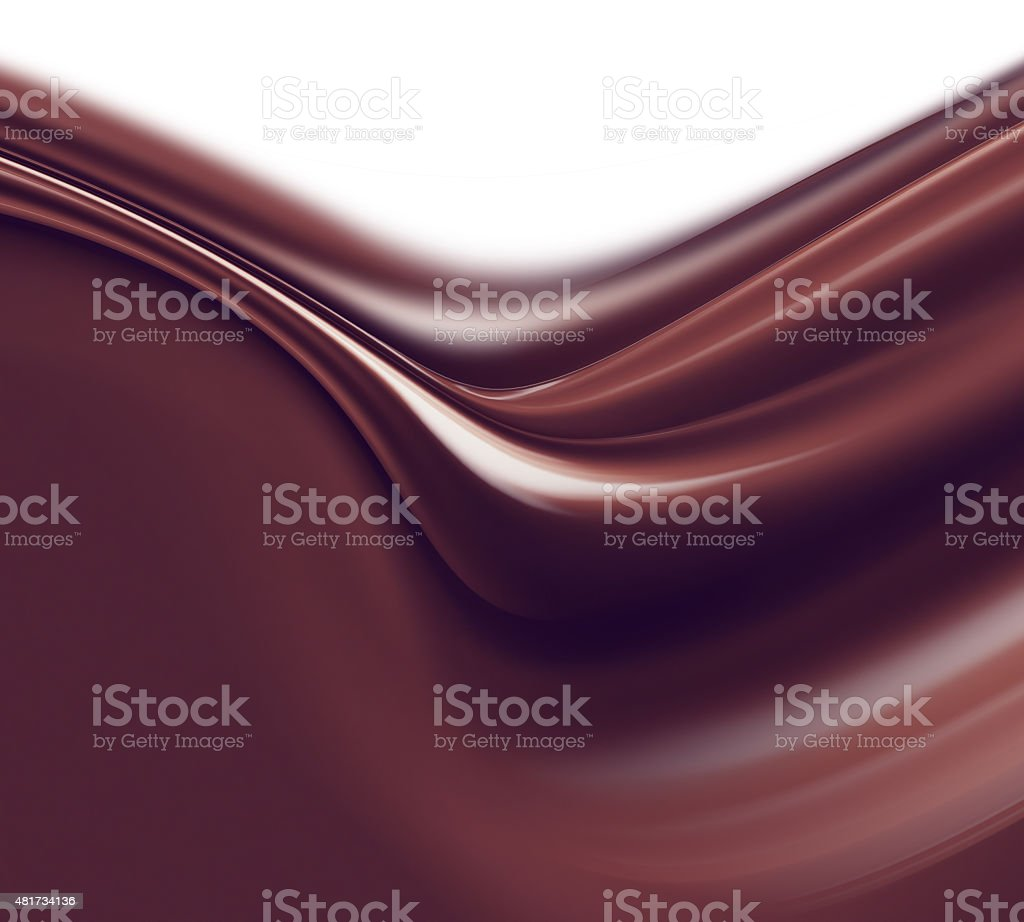 liquid chocolate stock photo