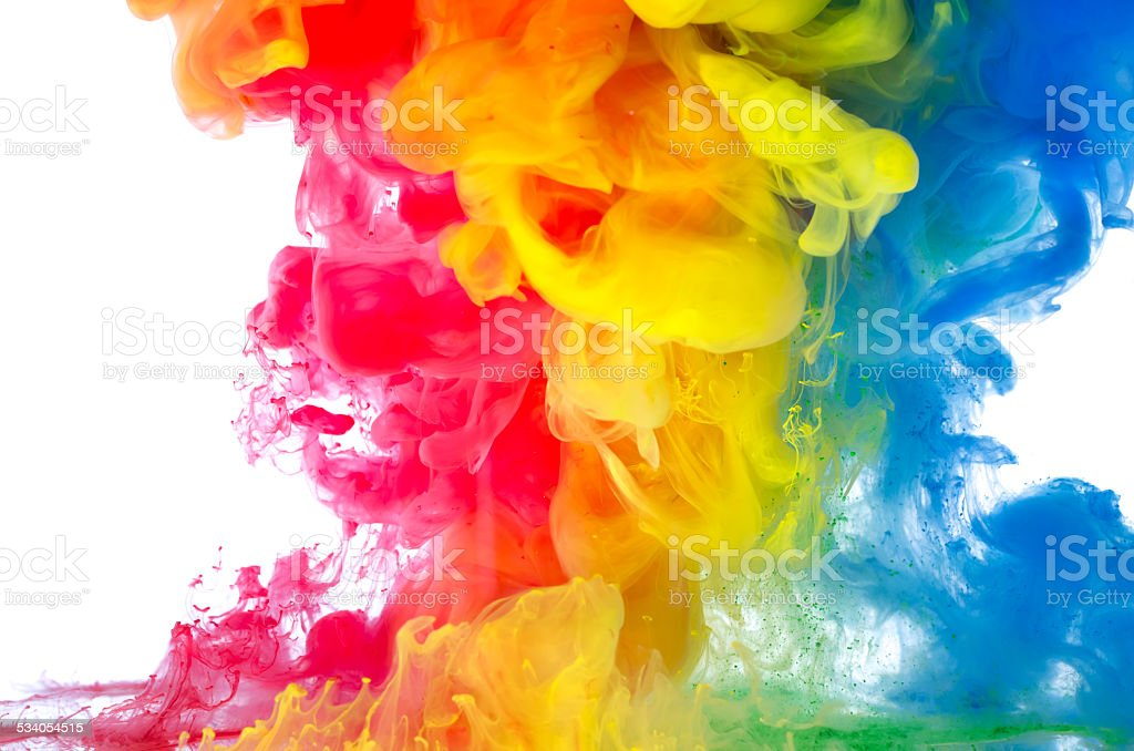 Liquid color in motion stock photo