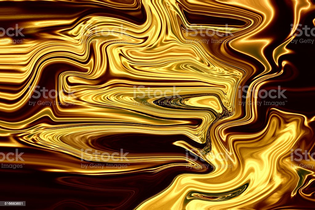 Liquid gold, abstract golden background, brown paper stock photo
