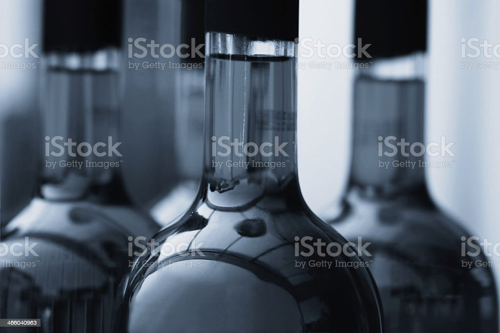 Liquid in glass bottles royalty-free stock photo