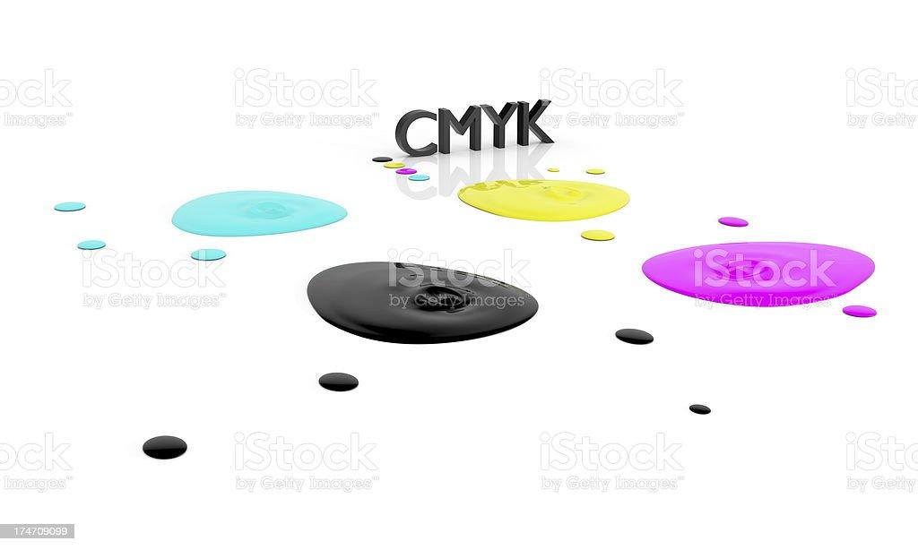 CMYK liquid inks royalty-free stock photo