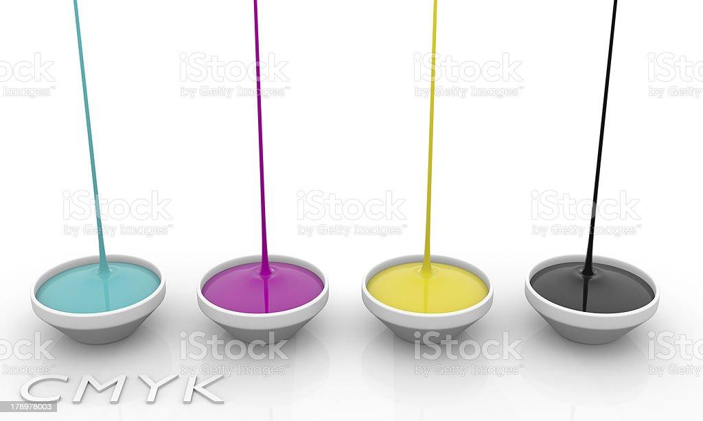 CMYK liquid inks stock photo