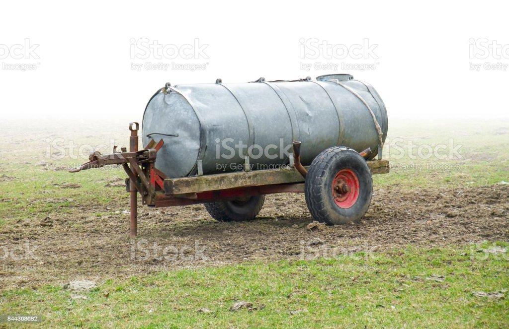liquid manure spreader stock photo