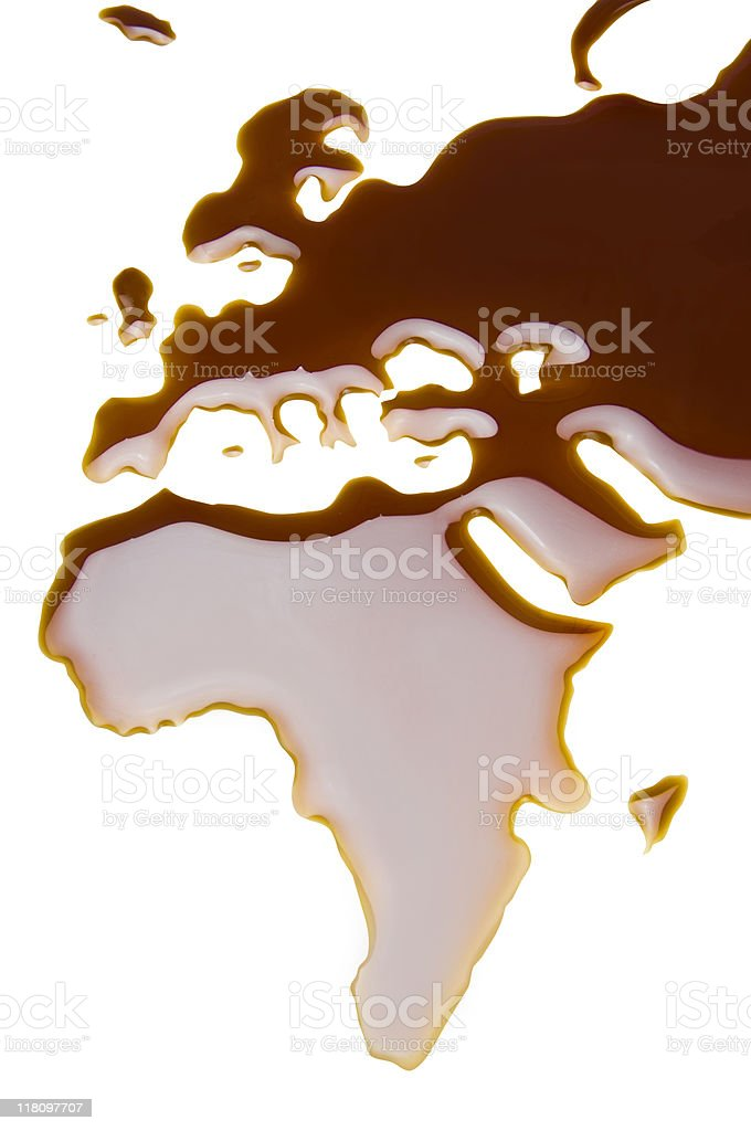 liquid Map royalty-free stock photo