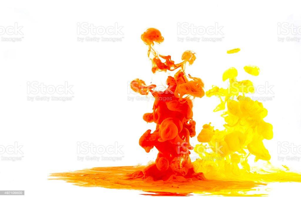 liquid multi-color stock photo