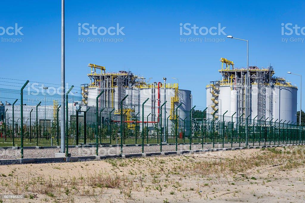 Liquid natural gas storage station, Swinoujscie, Poland stock photo