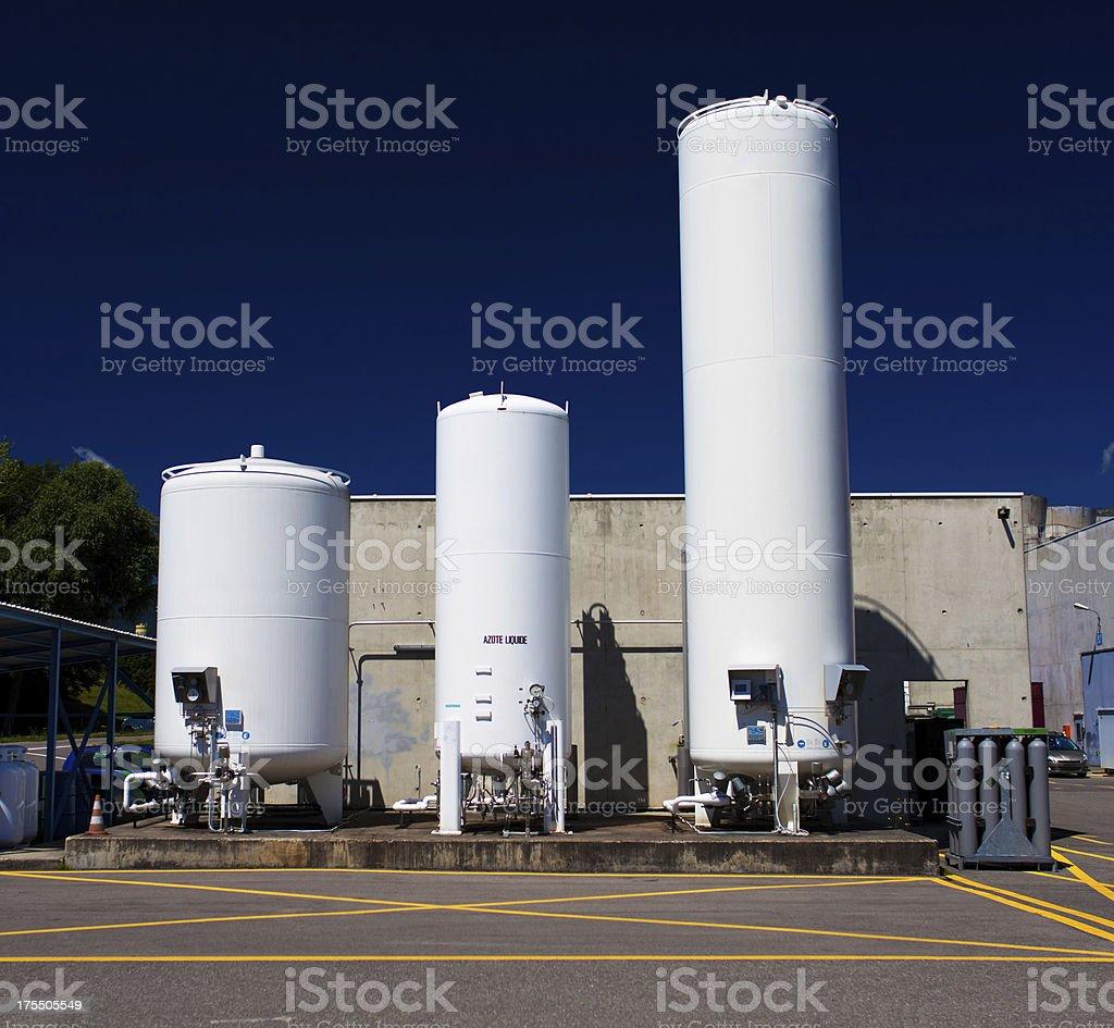 Liquid Nitrogen container stock photo