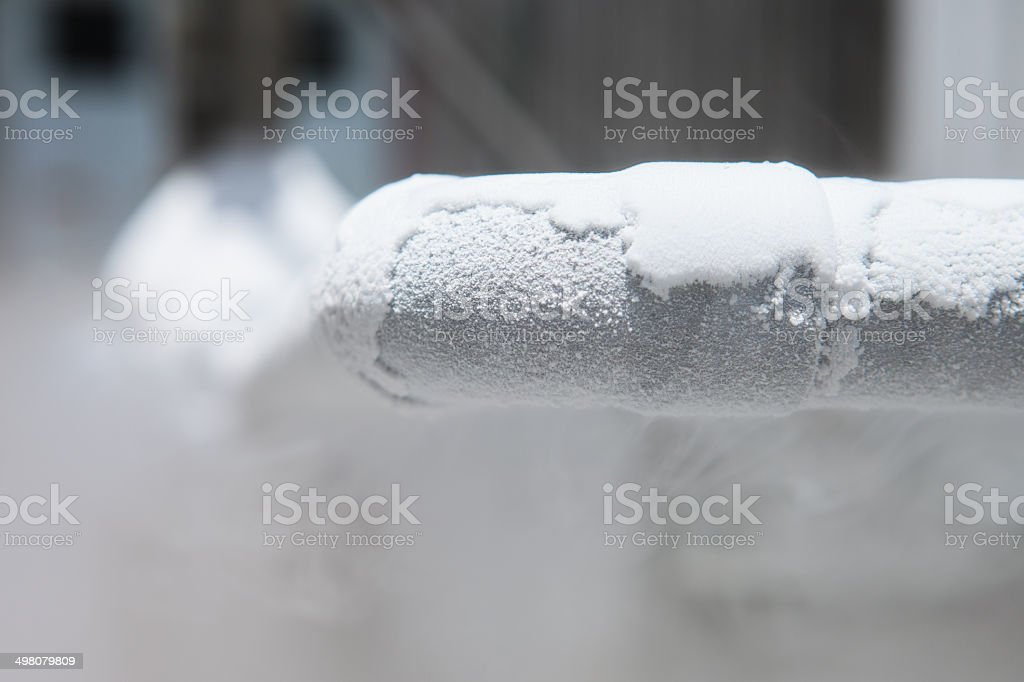 liquid nitrogen stock photo