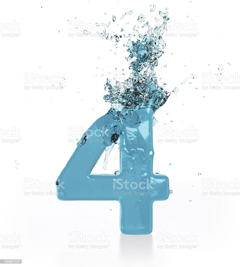Liquid Number 4 royalty-free stock photo