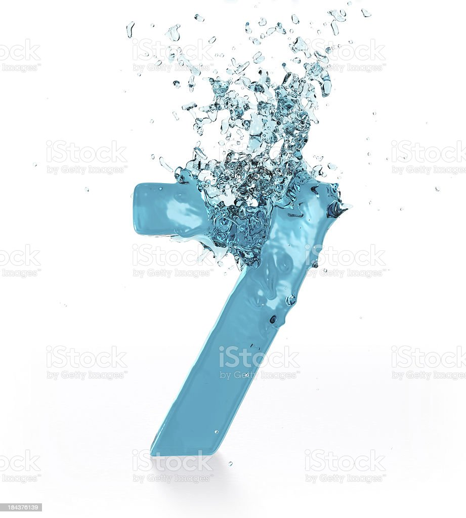 Liquid Number 7 royalty-free stock photo