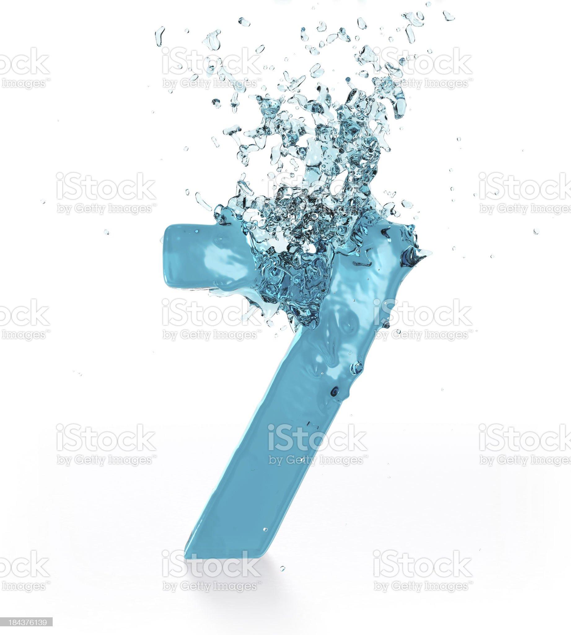 Liquid Number 7 royalty-free stock photo