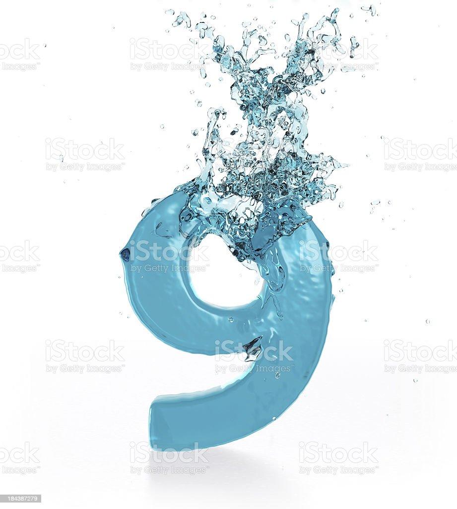 Liquid Number 9 stock photo