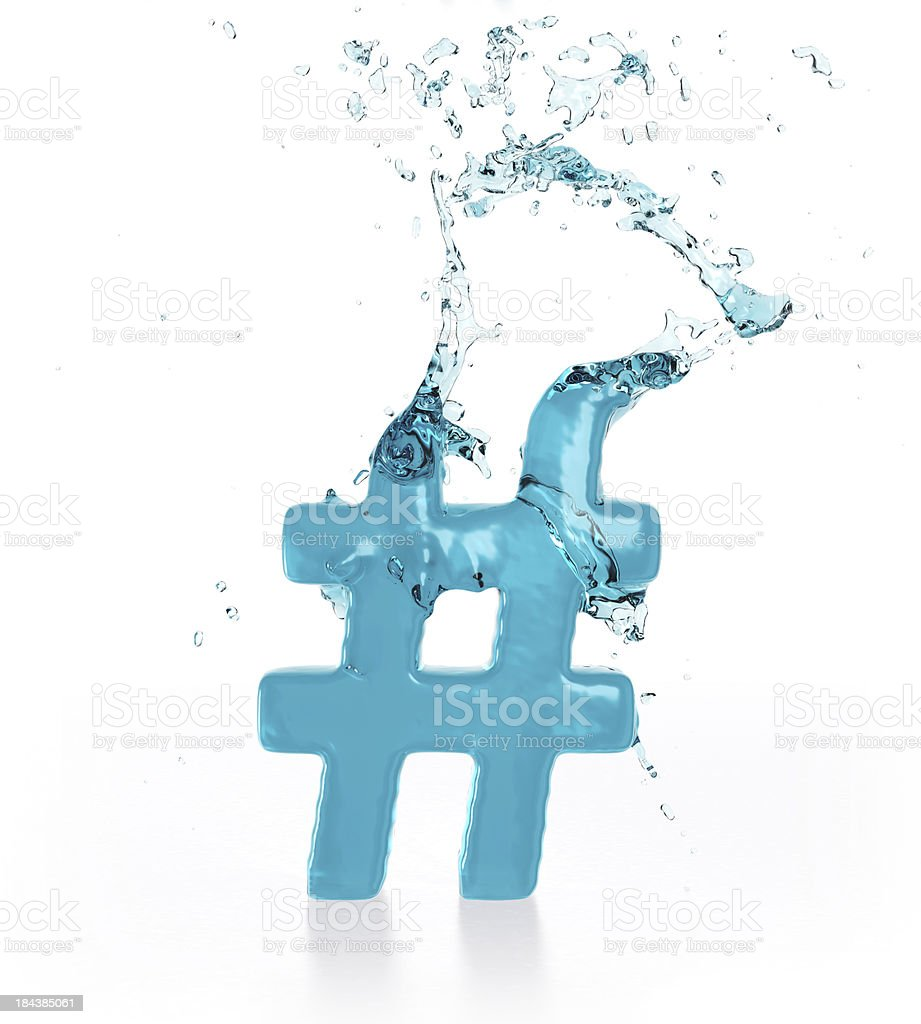 Liquid Number Sign royalty-free stock photo