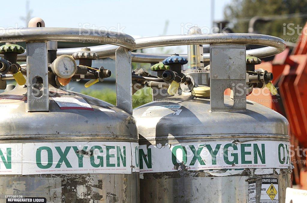 Liquid Oxygen stock photo