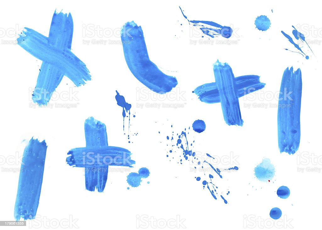 liquid paint drop color strokes royalty-free stock photo