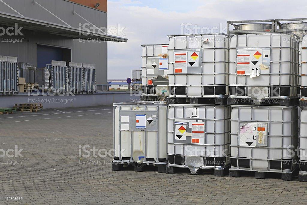 Liquid pallets royalty-free stock photo