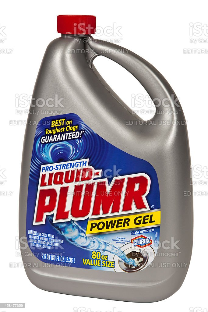 Liquid Plumr Power Gel, product isolated on white background royalty-free stock photo