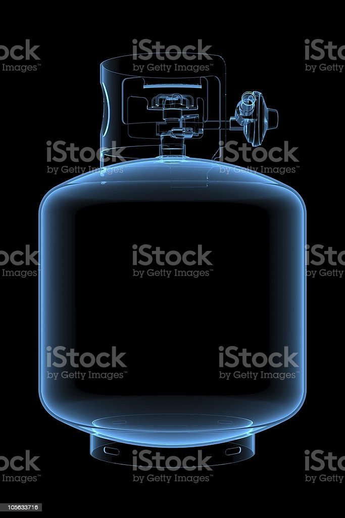 Liquid propane tank royalty-free stock photo