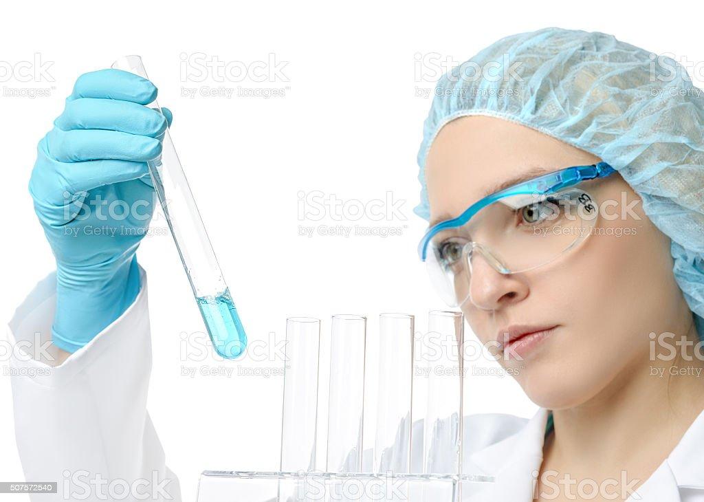 Liquid sample stock photo