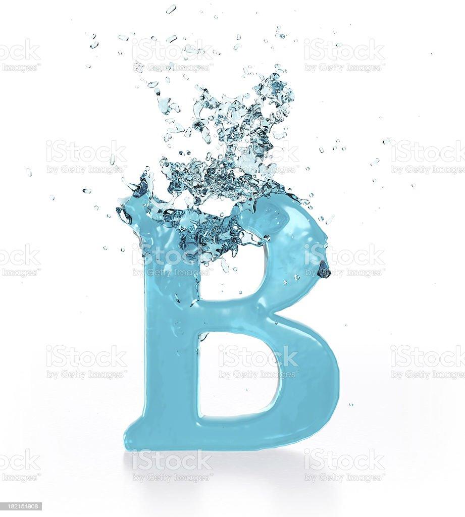 Liquid Sphash B royalty-free stock photo