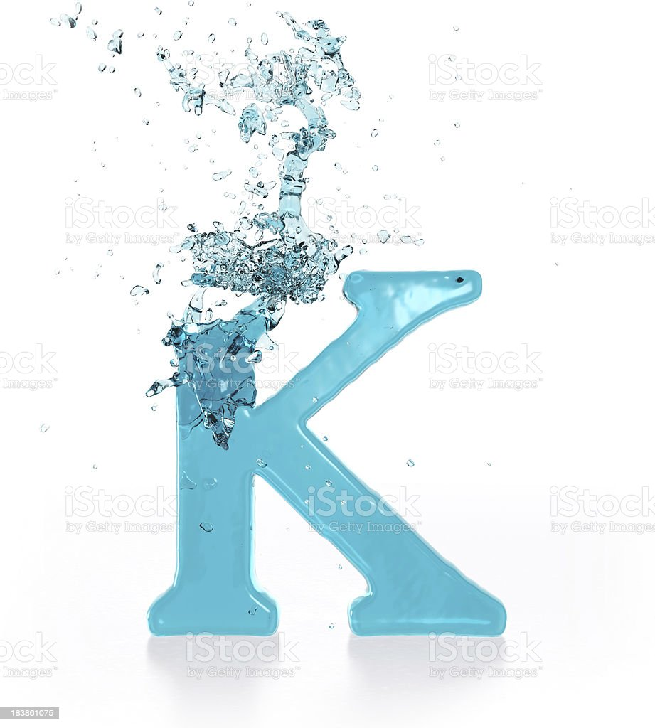 Liquid Sphash K royalty-free stock photo
