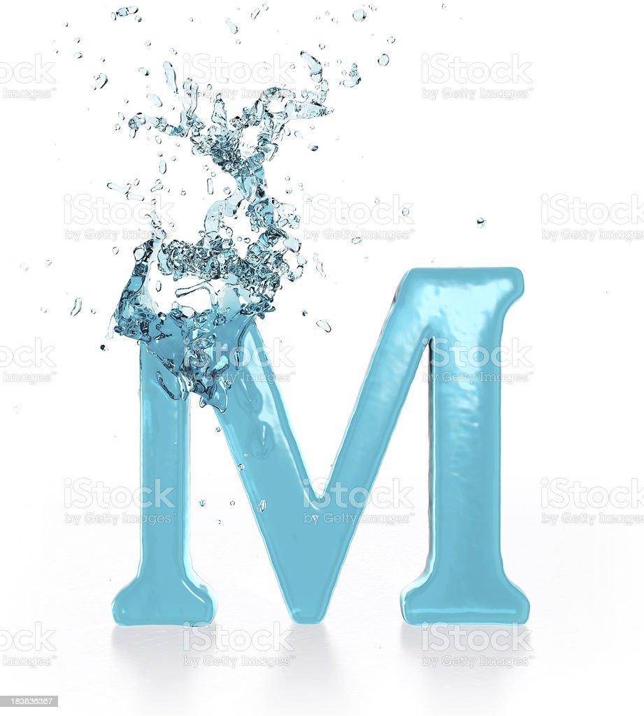 Liquid Sphash M royalty-free stock photo