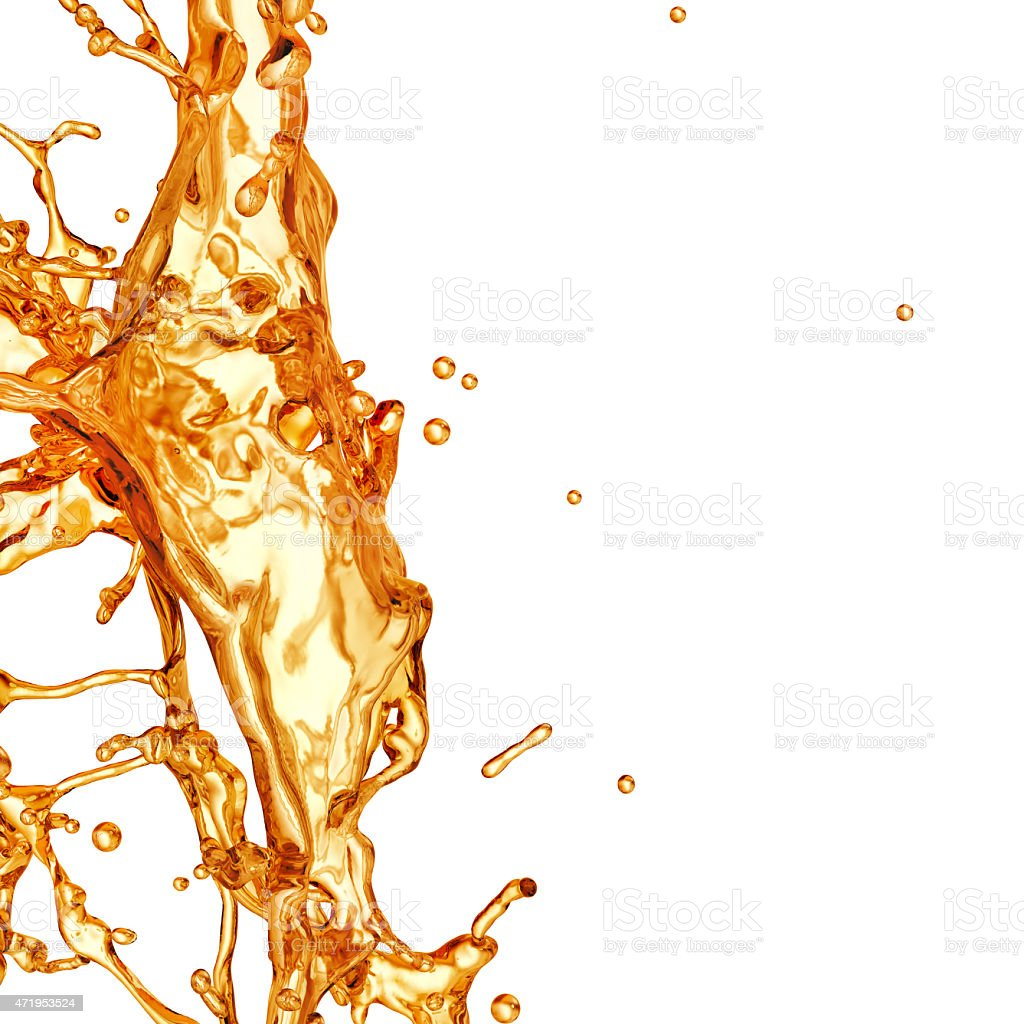 Liquid Splash. Alcohol, Tea, Cola. stock photo