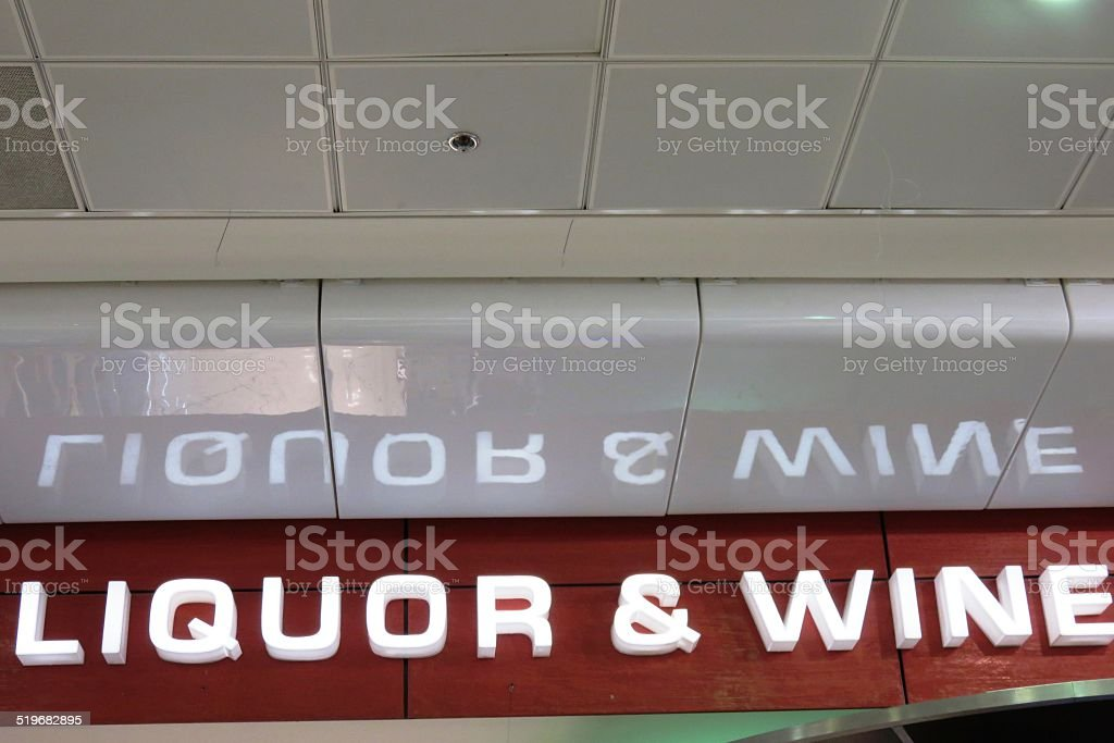 Liquids and wine stock photo