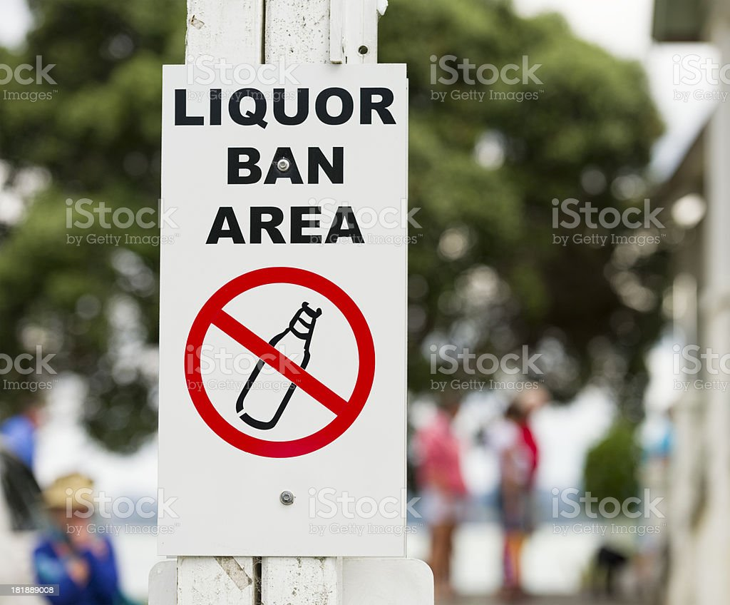 Liquor Ban Area Sign royalty-free stock photo