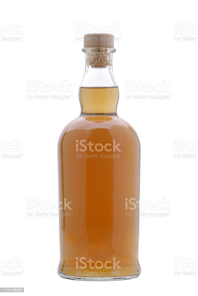 Liquor Bottle full of Scotch royalty-free stock photo