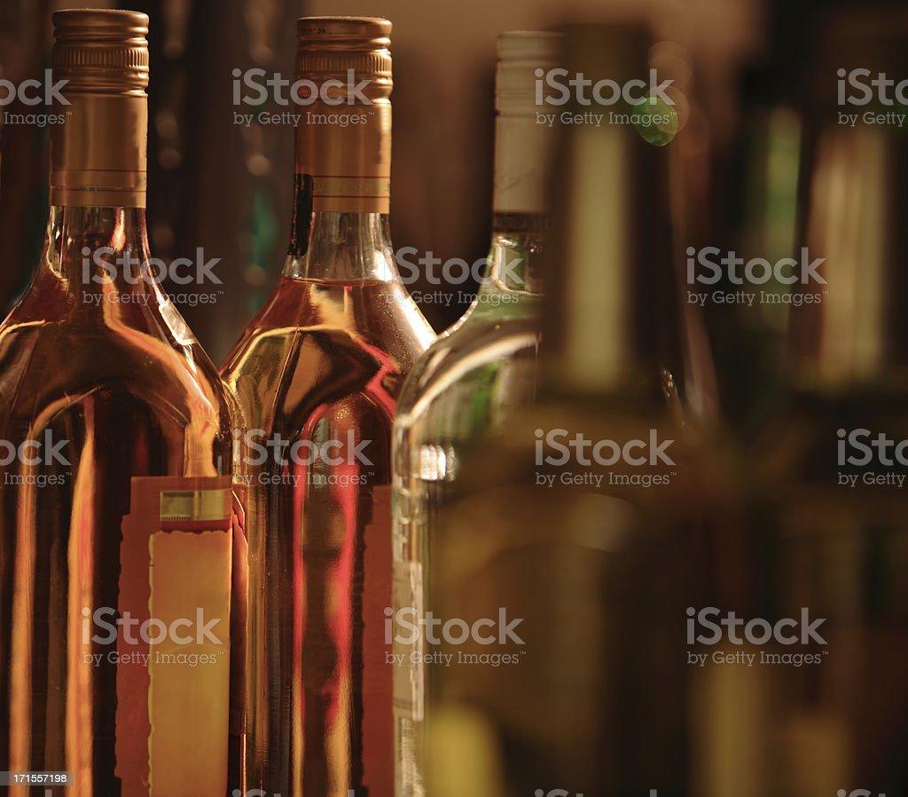 Liquor Bottles stock photo
