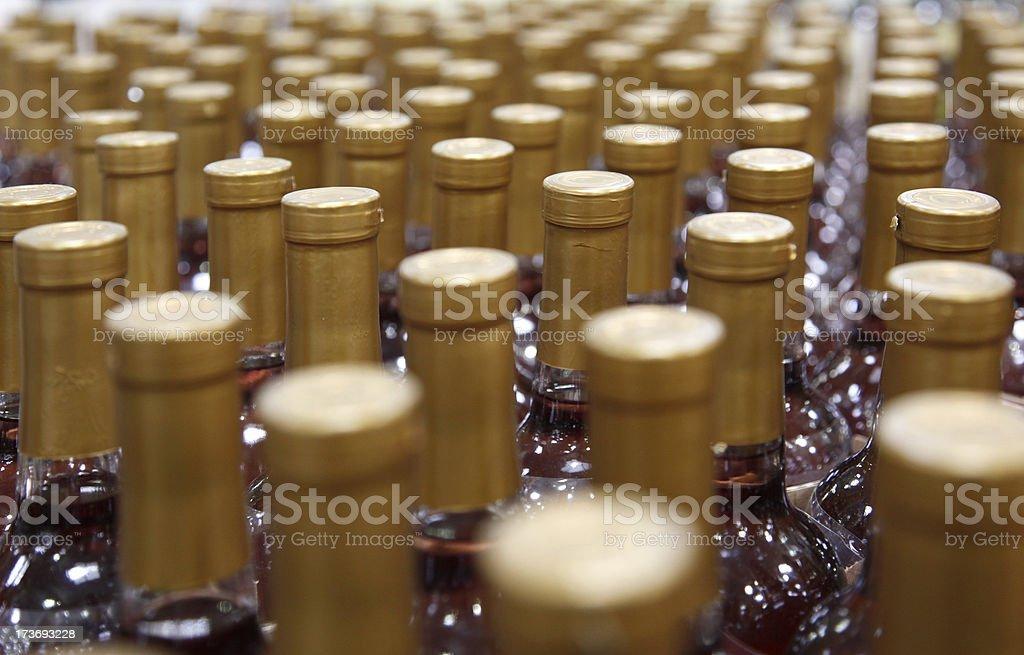Liquor bottles royalty-free stock photo