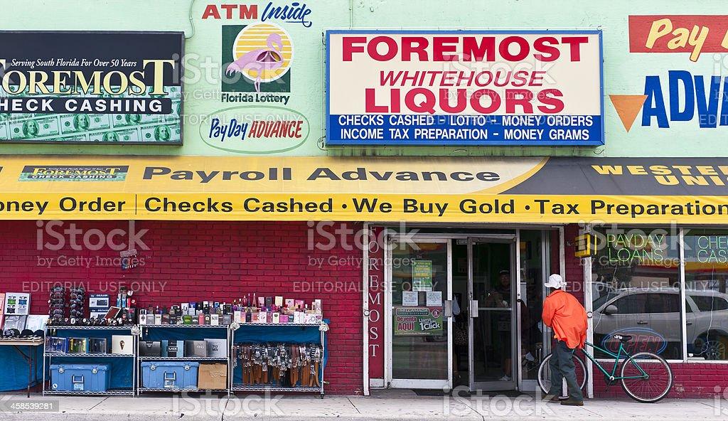 Liquor Store in Miami stock photo