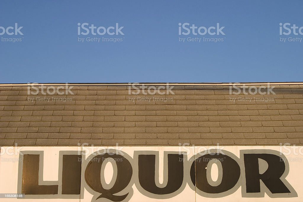 Liquor Store Sign royalty-free stock photo