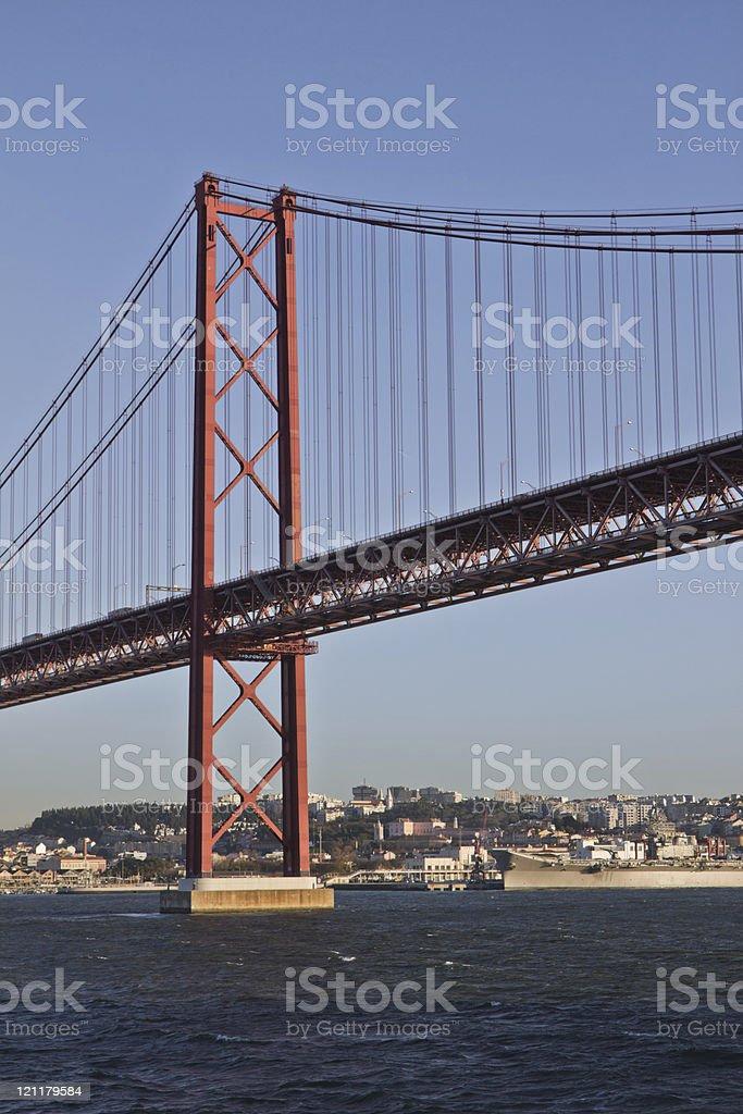 Lisboa, dia 25 de Abril, Ponte. foto de stock royalty-free
