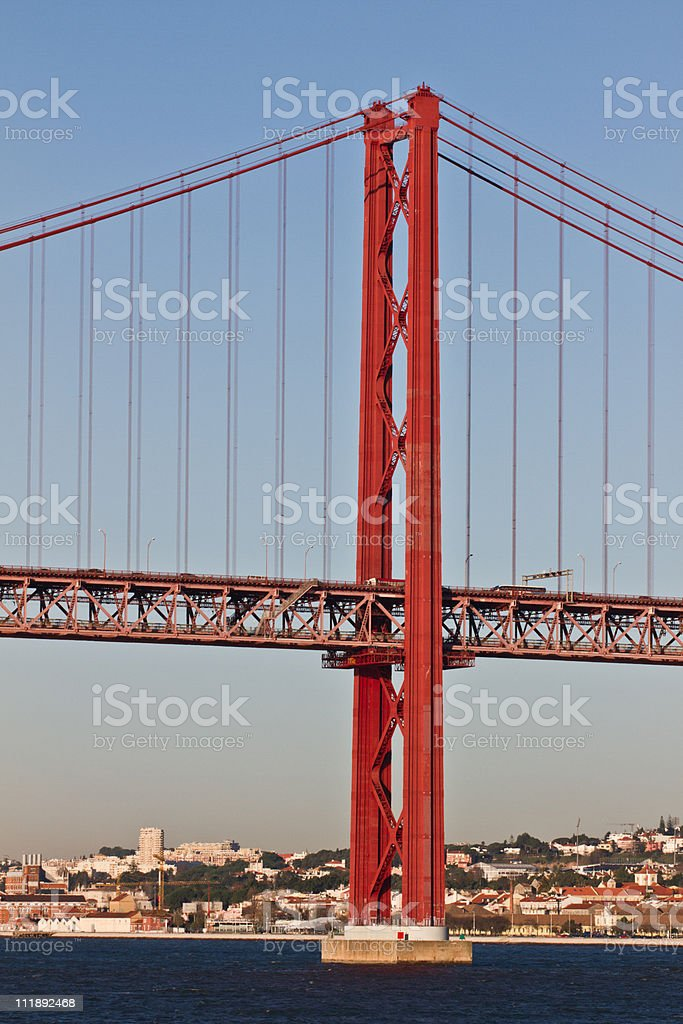 Lisboa, dia 25 de Abril, Ponte, Portugal. foto de stock royalty-free