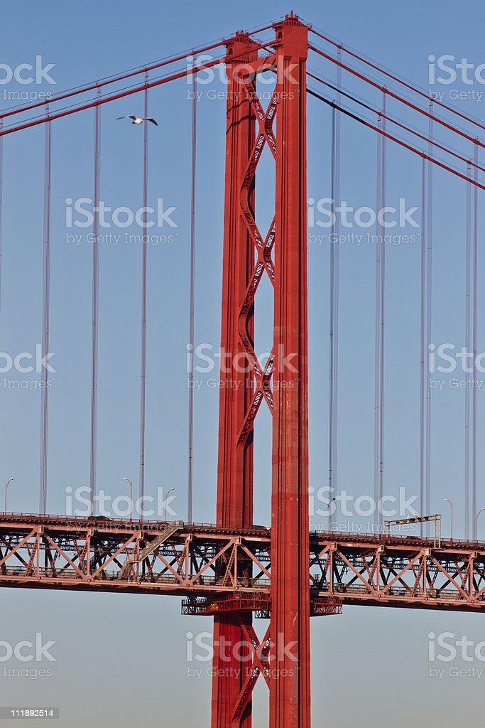 Lisboa, dia 25 de Abril, Ponte, Portugal. foto de stock royalty-free