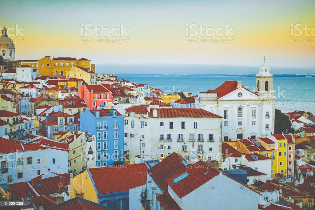 Lisbon, Alfama, cityscape stock photo