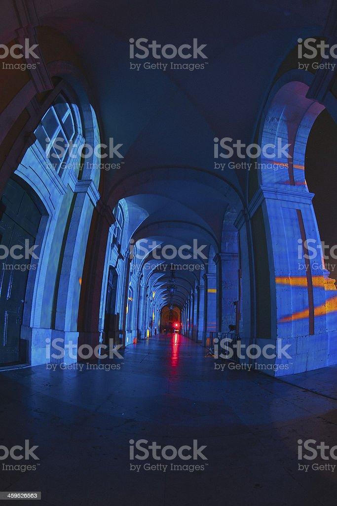 Lisbon Arcades stock photo