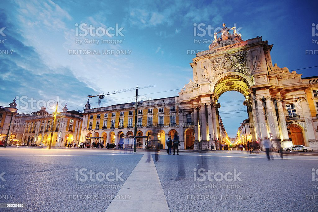 Lisbon at Nightfall stock photo