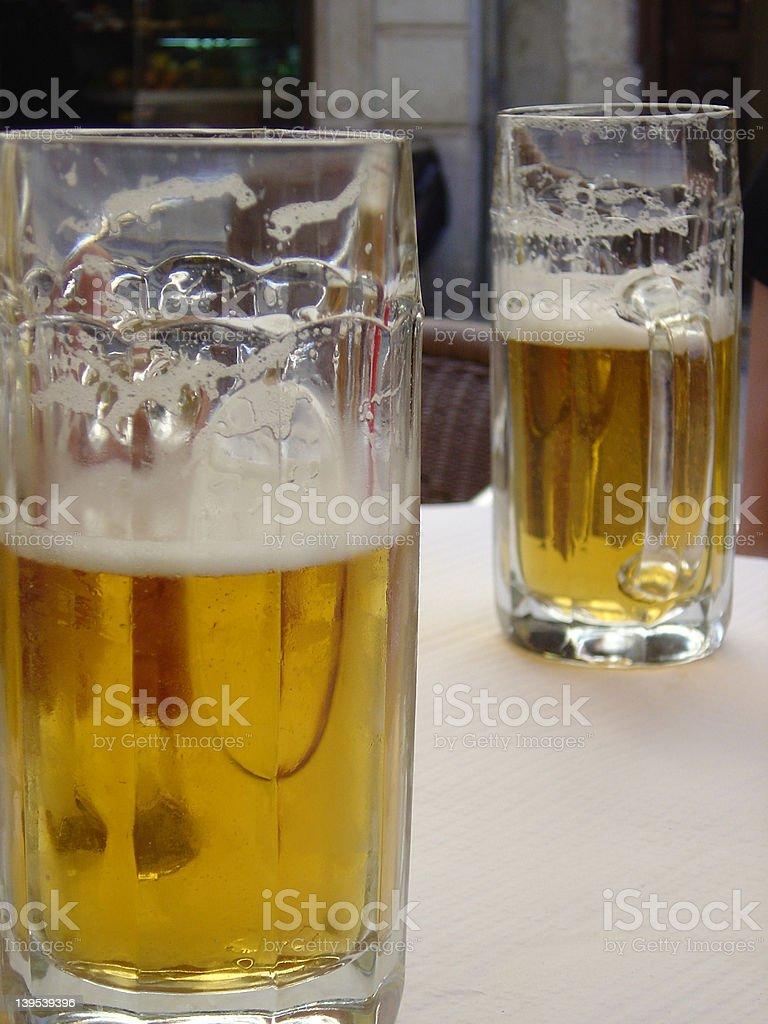 Lisboa beer stock photo