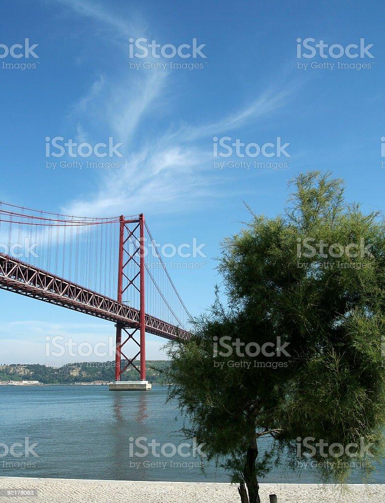 Lisbon bridge royalty-free stock photo