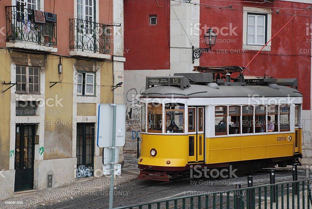 lisbon cable car royalty-free stock photo